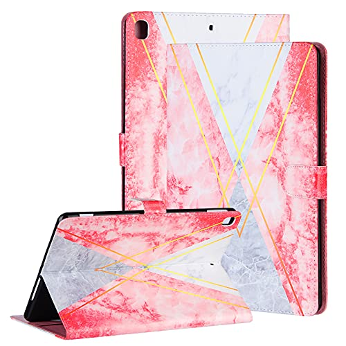 Uliking iPad 9.7 2017 2018, iPad Air/Air 2 case, Premium PU Leather Kickstand Protective Smart Cases and Covers for Apple iPad 9.7,iPad Air/Air2, iPad Pro 9.7 with Auto Sleep Wake, Triangle Marble