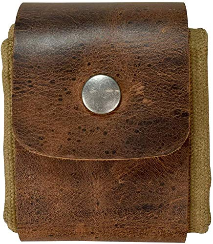 Canva Bag Canvas Foraging Pouch for Hiking,Collapsible Handmade Leather...