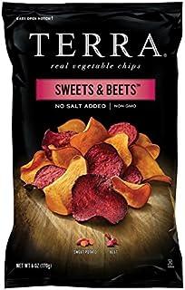 Terra Sweets & Beets Vegetable Chips, No Salt Added, 6 Oz (Pack of 6)