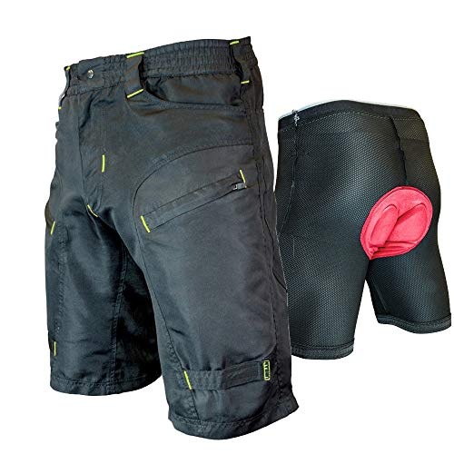 Urban Cycling Apparel The Single Tracker-Mountain Bike Cargo Shorts, with G-Tex Padded Undershorts