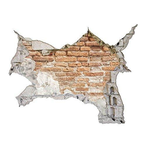 Bilderwelten 3D Wandtattoo - Shabby Backstein Wand - Quer 3:4, Größe: 30cm x 40cm