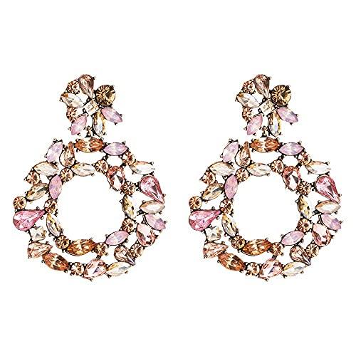 Pendientes para niñas, colgante acrílico QWEA pendientes femeninos exagerados pendientes grandes accesorios mujer bijoux femme za
