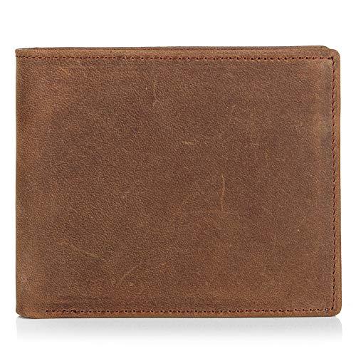 Billetera Billetera de Cuero de Caballo Loco Retro Casual Corto para Hombres Día de San Valentín Esposa, Esposo, Padre, Madre, Amante, Gir