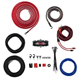 DS18 AMPKIT0 8 Gauge Amp Kit Amplifier Install Wiring 1/0 Ga Pro Installation Cables, 3000 w (8 Gauge)