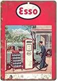 Esso Gas Vintage Travel Retro Decor Metal Tin Sign 8x12 Inch