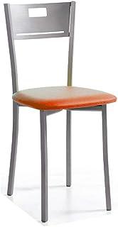 fanmuebles - Silla de Cocina Isabel Varios tapizados - Polipiel Naranja