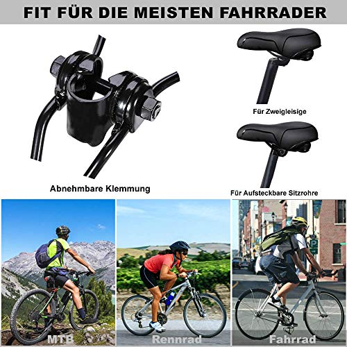 toptrek Fahrradsattel Memoryschaum gefüllt MTB/BMX Sattel mit überzug Bequemer Hohl und Ergonomischer Fahrradsitz Breiter Tourensattel Velo Sattel Herren Damen für Rad/Rennrad/Mountainbike/EMTB - 6