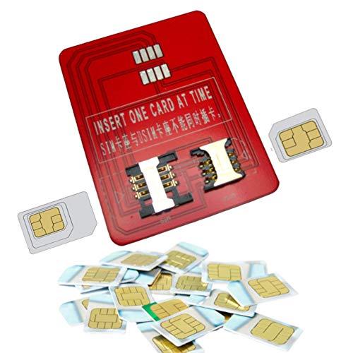 Adattatore da SIM Mini/Micro a Smart Card dimensione carta di credito, permette di utilizzare qualunque sim Mini o Micro come sim telefoniche, di firma digitale, o di autenticazione con un lettore di smart card da tavolo a dimensione standard carta di credito