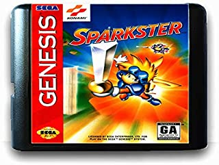 Sparkster For 16 Bit Sega Md Game Card For Mega Drive For Genesis Us Pal Version Video Game Console JAP SHELL