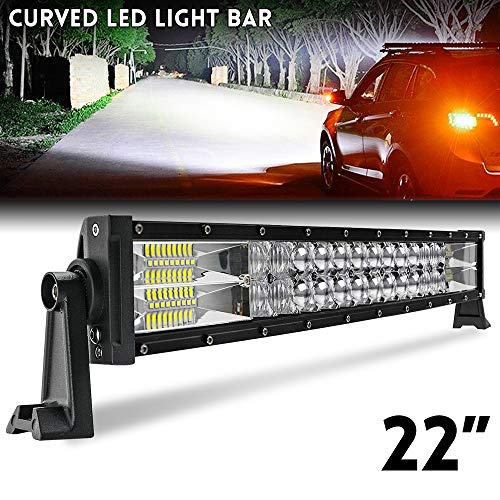 22 zoll Curved LED Bar 59 cm 2 Reihen Flutlicht Spot Combo Beam IP67 Offroad Fahrlicht für LKW ATV SUV Boot CO LIGHT, 9627-22