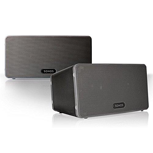 Sonos Play:3 Multi-Room Digital Music System Bundle (2 - Play:3 Speakers) - Black