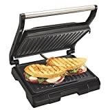 Proctor Silex 4 Serving Panini Press, Sandwich Maker and Compact Indoor Grill, Upright Storage, Easy...