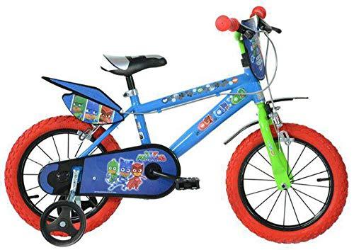 Dino- Bicicletta per Bambini pjmasks 16' Nylon PJ Masks, 416U-PJ