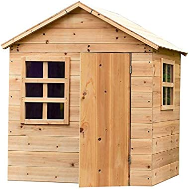 """Outdoor Kids Evermeadow House Playhouse with Floor 
