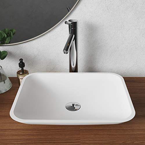 Kraus KSV-4MW Natura Bathroom Sink, Rectangular 19.6 x 15.7 inch