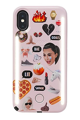 Kimoji Pink Collage Case iPhone X