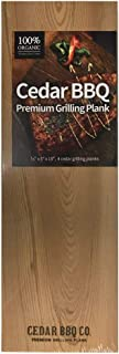 Cedar BBQ Premium Cedar Grilling Planks - 4 Piece Set - 5