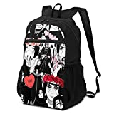 Girls Boys Mini Travel Backpack, Anti Dirt Compartment Anime Naruto Itachi Uchiha Akatsuki Red Cloud Book Bags, Popular Work Bag For Earphone Running Business