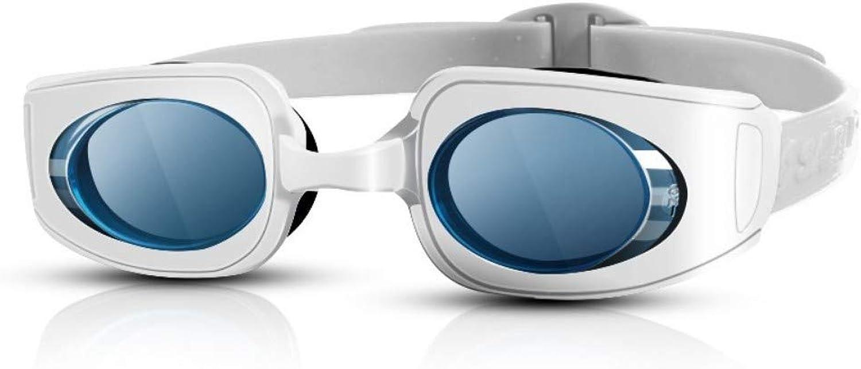 Jameslbj-Goggles Hd Anti-Fog Waterproof Anti-Uv Leakproof Silicone Men And Women Myopia Big Box Flat Professional