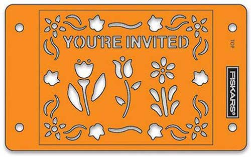 Card Boss - You're Invited Stencil Set by Fiskars