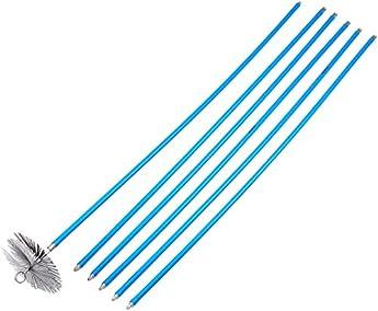 Foto di Vigor Blinky 40840-20 Kit Spazzacamino con 6 Canne da 140 cm, Diametro 20 cm, Blu