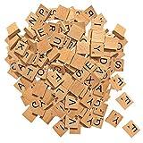 Tiles Buchstaben aus Holz, für Holzarbeiten, Kunst und Basteln und Scrapbooking, 200 Stück - von...