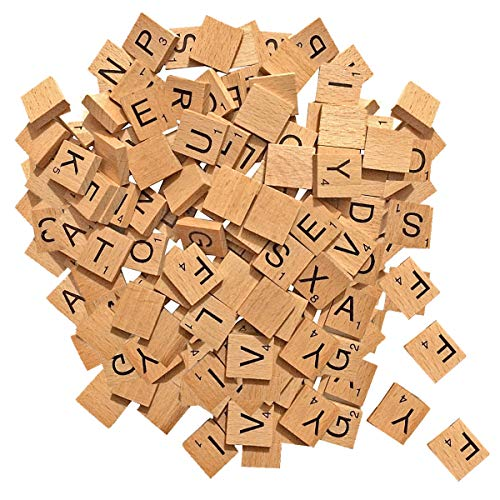 WedDecor alfabet tegels met zwarte letters en cijfers voor bordspel, hanger, kunst & ambacht, doe-het-zelf projecten, mode accessoires, home décor