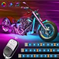 Govee Motorcycle LED Lights Kits, 8pcs Rope Lights with Remote and Control Box, Waterproof RGB Motorcycle Lights with 20 Colors 4 Music Modes, SMD 5050 LEDs Flexible Lights with 3M Adhesives Clips from Govee