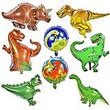 Herefun 8Pcs Globo Dinosaurio Decoración para Fiesta, Dinosaurio Jurásico Globos Fiesta, Regalo Ideal para Decorar Un Cumple