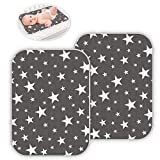 2 Pack Baby Diaper Changing Pad Maveek 19.6'' X 27.5'' Waterproof Changing Mat Portable Diaper Pad Travel Changing Mat Foldable Absorbent Mats for Home and Outdoor(2Grey)