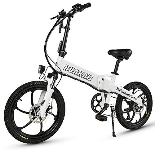 Bicicleta Eléctrica con Buje Integrado GT20, Bicicleta Eléctrica Plegable De 20 Pulgadas,...