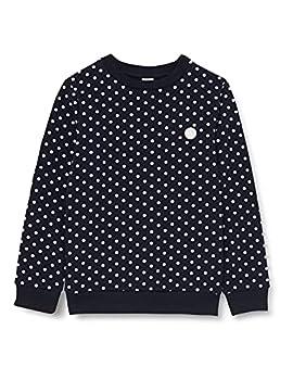 Petit Bateau A031A Sweatshirt, Smoking/Marshmallow, 4 Ans Fille