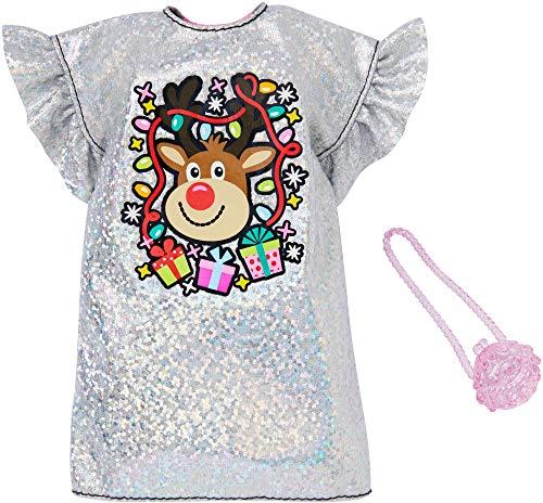 Barbie Vestito Glitterato | Natale Mattel GGG51 | Moda Vestiti per Bambole