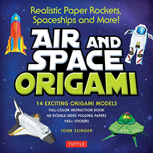 Compare Textbook Prices for Kit Air and Space Origami Kit: Realistic Paper Rockets, Spaceships and More! [Kit with Origami Book, Folding Papers, 185+ Stickers]  ISBN 9780804849241 by Szinger, John,Vints, Kostya