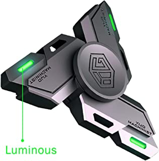 Fidget Spinners, Fidget Spinner Gifts for Adults and Kids, Stress Anxiety ADHD Relief Figets Toy, Metal Finger Hand Spinner Toys with Luminous Light, Spinner Absorb Solar Light then Release in Dark
