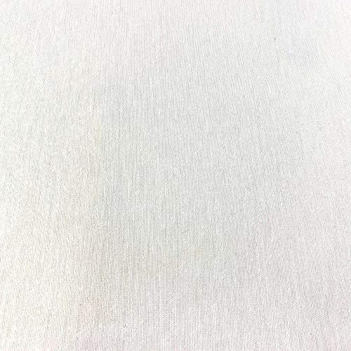 Kt KILOtela Tela de loneta Lisa - Algodón, poliéster - Solidez a la luz: 5-6 - Retal de 100 cm Largo x 280 cm Ancho | Blanco