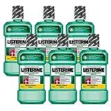 Listerine Zahn- & Zahnfleischschutz Mundspülung, umfassendes Mundwasser, antibakteriell für gesundes Zahnfleisch (6 x 600 ml)