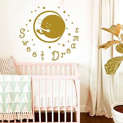 Geiqianjiumai Maan en zon knuffel zoete droom kind slaapkamer wanddecoratie vinyl sticker