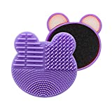 Kit di pulizia per pennelli per trucco Beauty Box Design per doppio lato con scatola di pulizia per pennelli cosmetici e spugna per rimozione colore istantaneamente a secco