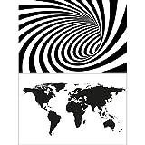 GREAT ART 2er Set XXL Poster – Schwarz Weiss Grafiken –