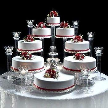platinumcakeware 9 Tier Cascade Wedding Cake Stand (Style R900)