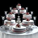 platinumcakeware 8 Tier Cascade Wedding Cake Stand (Style R800)
