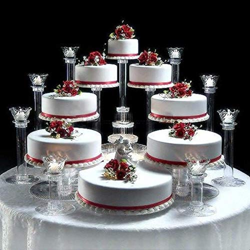 8 Tier Cascade Wedding Cake Stand (STYLE R800)
