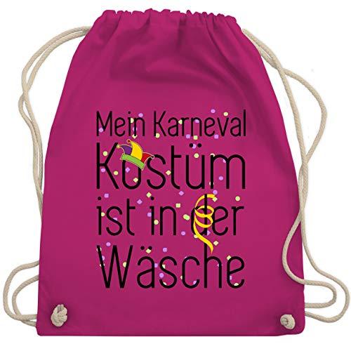 Shirtracer Karneval & Fasching - Mein Karneval Kostüm ist in der Wäsche - Unisize - Fuchsia - karnevalskostüm kinder - WM110 - Turnbeutel und Stoffbeutel aus Baumwolle