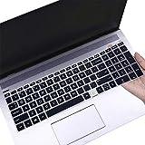 Keyboard Cover for HP Envy 17-cg1029nr 17-cg1045cl 17-cg0019nr 17m-cg0013dx cg0511sa, HP Envy 17 17.3 17t/17m/17-cg cg000 cg100 US Keyboard Cover for HP Envy 15.6 2-in-1 Fingerprint Reader -BK