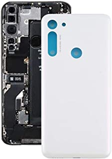 Mobile Phones Communication Accessories Battery Back Cover for Motorola Moto G8 (Color : White)