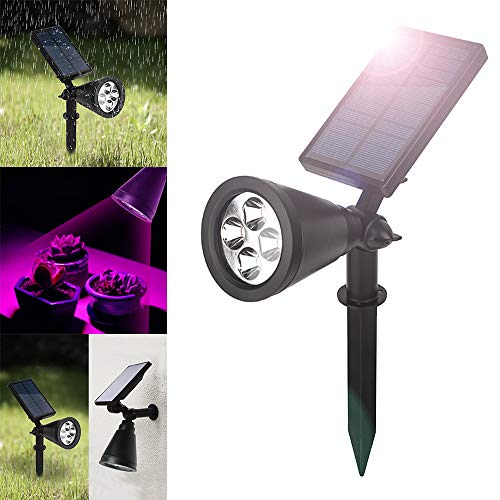 kuke Solar Growing Light Bulbs with 16 LED Grow Lamp Bulbs Adjustable 360 Degree for Outdoor Automatic Plants Hydroponics Gardening