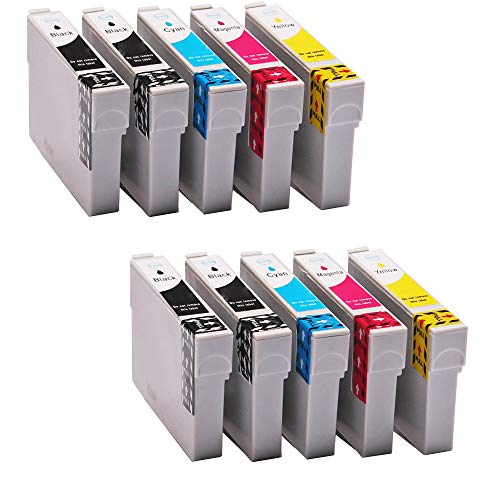 10er Set ABC kompatible Druckerpatronen als Ersatz für T0611 - T0614 für Epson Stylus D68 D68PE D88 D88PE Plus DX3800 DX3850 DX4200 DX4250 DX4800 DX4850