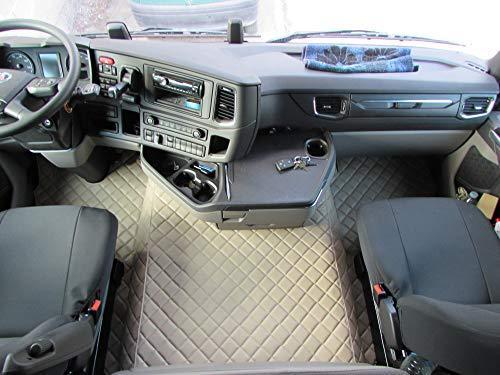 LKW Fußmatten Links für Scania R 2019+ 1 Pneumatischer Sitz Mit AUTOMATIC Getriebe BEIGE