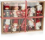 com-four® 10 Colgantes Premium de Papá Noel para el árbol de Navidad, Varios Colgantes...